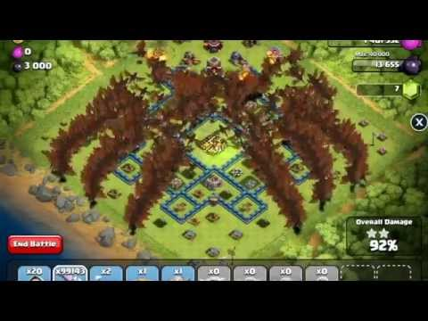 Clash of Clans - Unlimited Level 3 Dragon Raid Montage