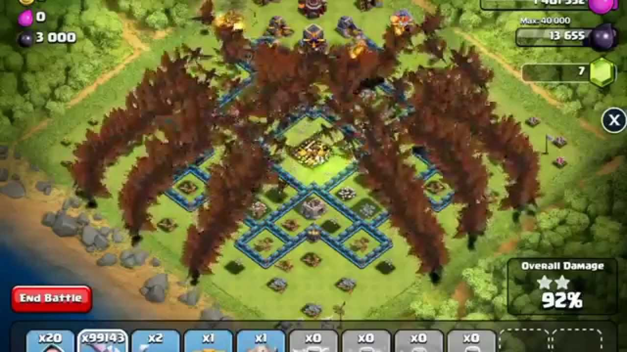 Clash Of Clans Unlimited Level 3 Dragon Raid Montage Youtube