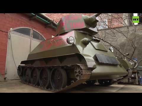 Pretty Badass! Man builds his very own T-34 replica