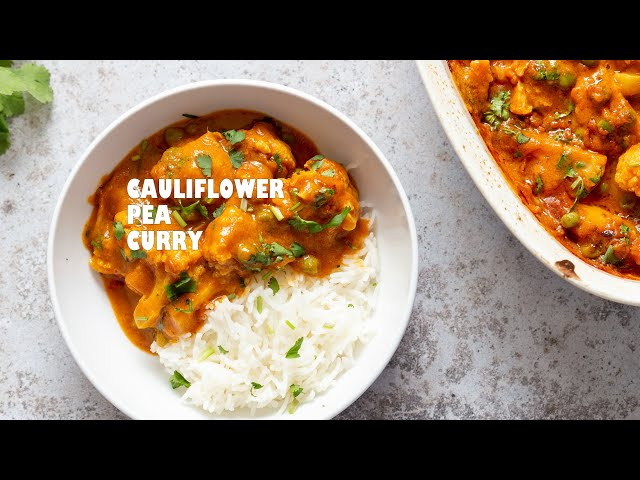 VEGAN CAULIFLOWER PEA CURRY – GOBI MATAR | Vegan Richa Recipes
