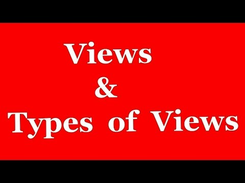 What is VIEW and Different Types of VIEWS in SAP ABAP