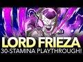 EMPEROR FRIEZA 30-STAMINA PLAYTHROUGH! (One Piece Treasure Cruise - Global)