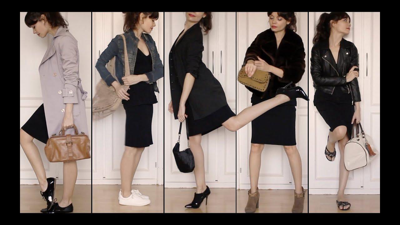 Como llevar un vestido negro corto