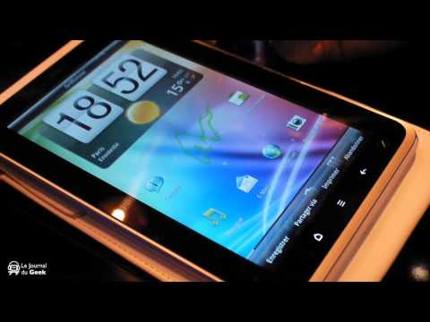 Preview HTC Flyer Android tablet