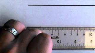 Tutorial:  How to use a metric ruler