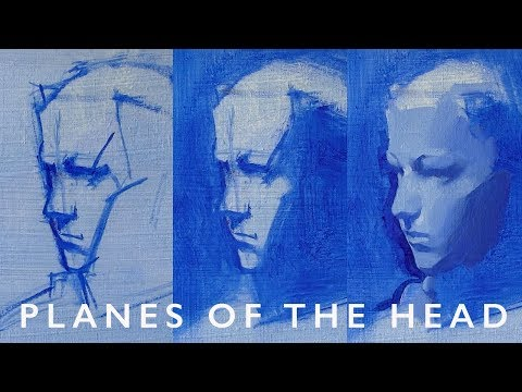 Portrait Painting Tutorial with Alex Tzavaras - The Planes of the Head