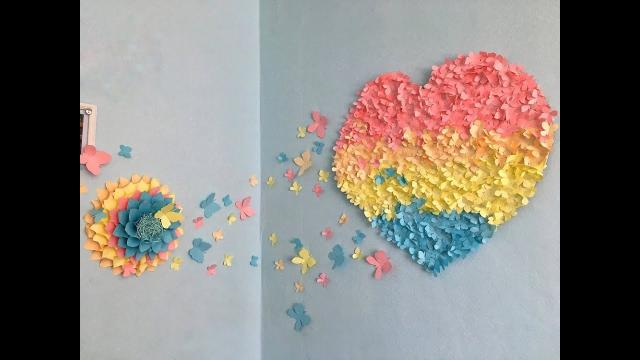 Бабочки из бумаги без шаблонов