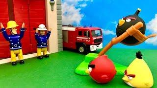 Strażak Sam i Wściekłe Ptaki  Co to jest....to Angry Birds  Bajka dla dzieci PO POLSKU