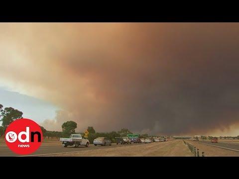 Bushfire ravages through Victoria