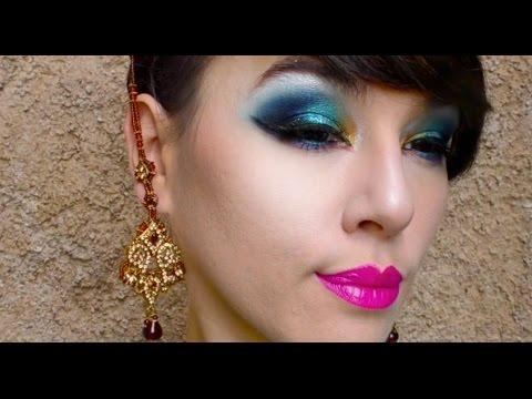 peacock-feathers-eye-makeup-|-maquillage-de-soirée-plume-de-paon