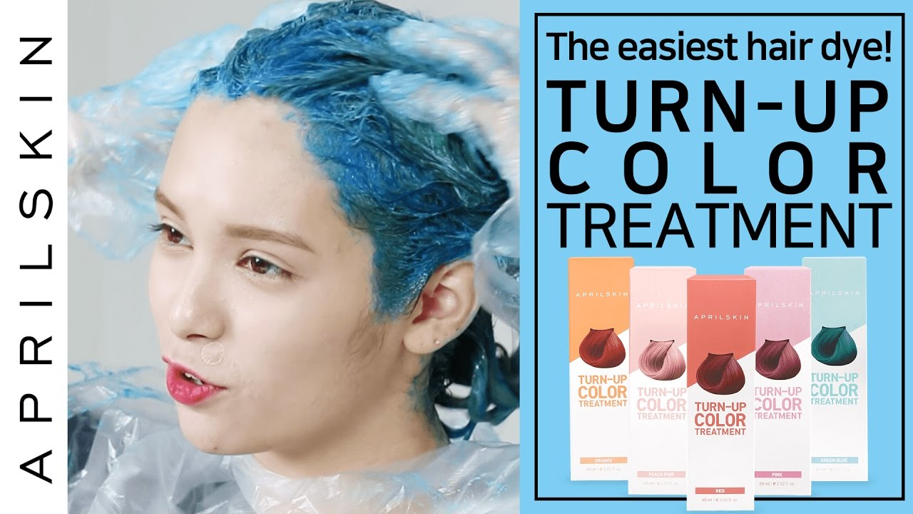 The easiest hair dye with Turnup Color Treatment  APRILSKIN GLOBAL  YouTube