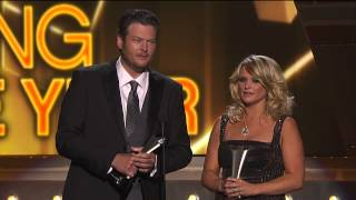 "Miranda Lambert & Blake Shelton ACM Song of the Year for ""Over You"" - 2013 ACM Awards"