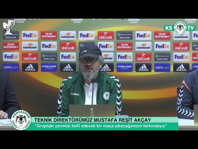Teknik Direktörümüz Mustafa Reşit Akçay ve oyuncumuz Deni Milosevic'in basın toplantısı