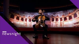 Sheku Kanneh-Mason plays Evening of Roses - BBC Newsnight