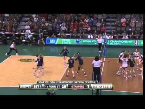 PENN STATE vs STANFORD NCAA VOLLEYBALL 2014 SEMIFINALS [Set 1]
