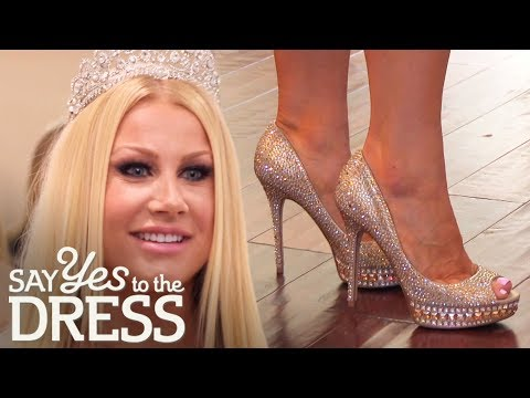 Bride Tries On $15K Jimmy Choo Shoes For Her Wedding Day  | Say Yes To the Dress: The Big Day