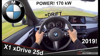 BMW X1 xDrive 25d (170 kW) 2019 POV Test Drive + Acceleration 0 - 222 km/h