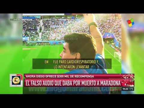 Maradona ofrece $300 mil para encontrar al autor del audio de su muerte