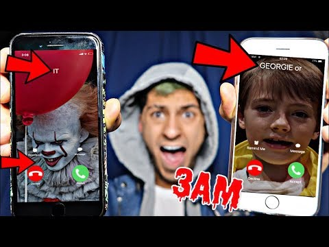 DO NOT CALL GEORGIE AND PENNYWISE FROM IT MOVIE AT 3AM!! *OMG THEY ACTUALLY ANSWERED*