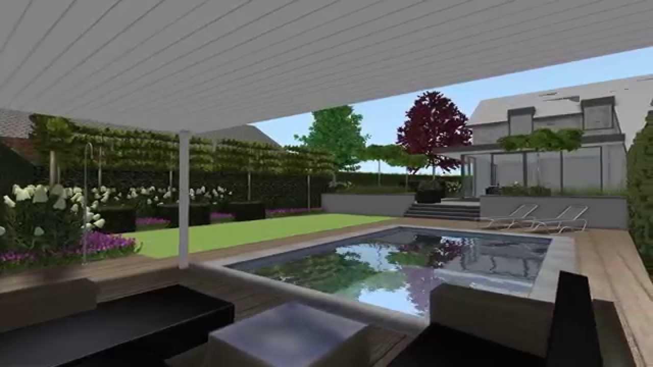 Herman vaessen 3d tuinontwerp moderne minimalistische tuin venlo youtube - Tuinontwerp ...