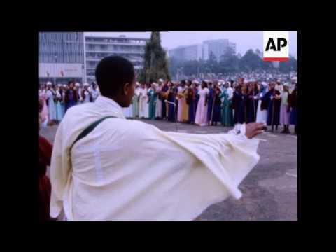 UNUSED 7 10 81 RELIGIOUS FESTIVAL IN ADDIS ABABA