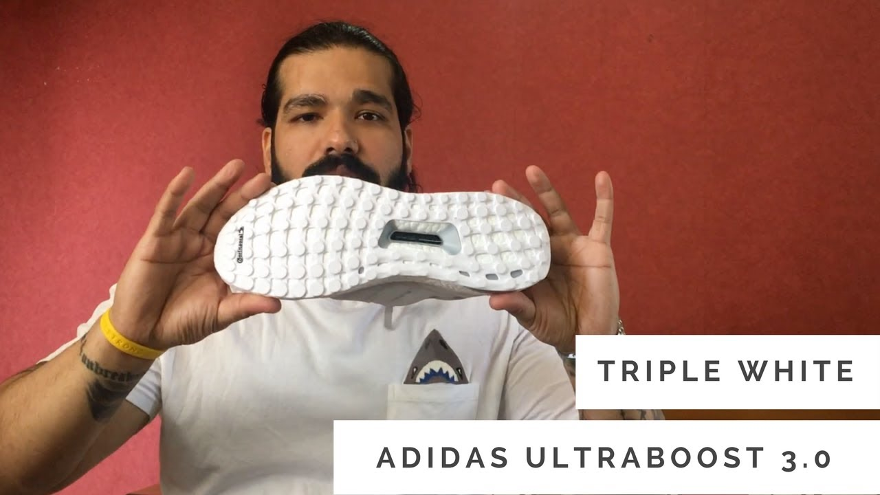 d6d4baae10e adidas Ultra Boost 3.0 Triple White - Unboxing and Review - YouTube