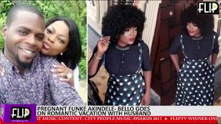 PREGNANT FUNKE AKINDELE-BELLO GOES ON ROMANTIC VACATION WITH HUSBAND