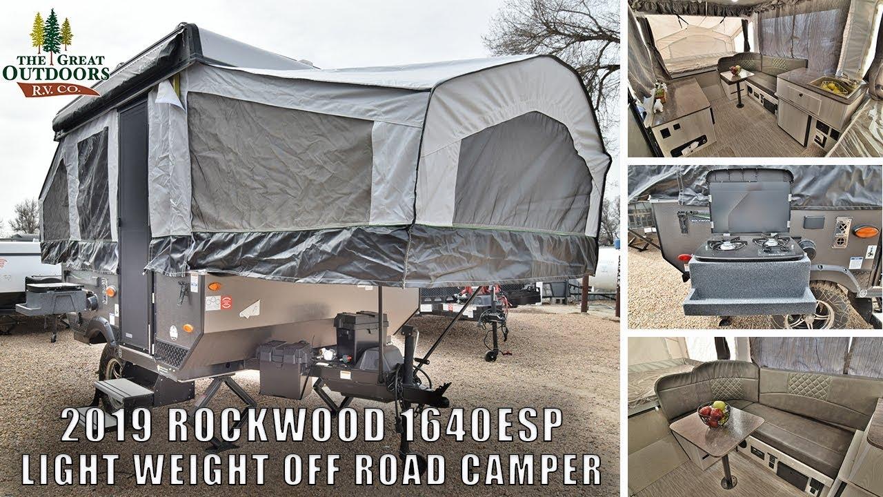 Pop Up Camper Gasgrill : New 2019 forest river rockwood 1640esp off road pop up camper rv