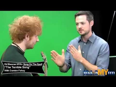 Ed Sheeran singing The Terrible Song At 104.3MYfm
