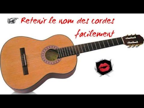 Favori Retenir le nom des cordes de guitare facilement - YouTube ZL97