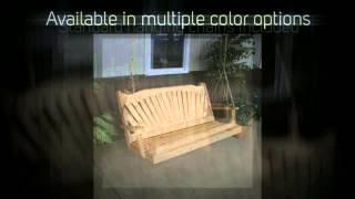 Al Furniture Co. Fanback Red Cedar Porch Swing - 382c, 383c