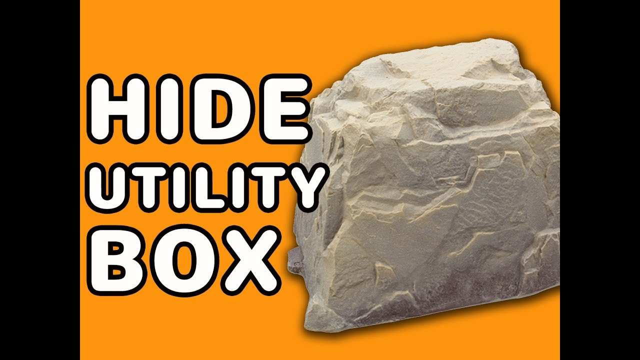 Faux Landscaping Rock Utility Box Covers : Big fake rock cover hide utilty box electrical