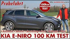 KIA e-Niro 64 kWh 100 km Verbrauch Test Reichweite Batterie Laden Probefahrt Preis 150 kW Deutsch
