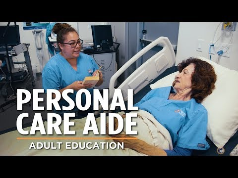 Personal Care Aide Training   Adult Education