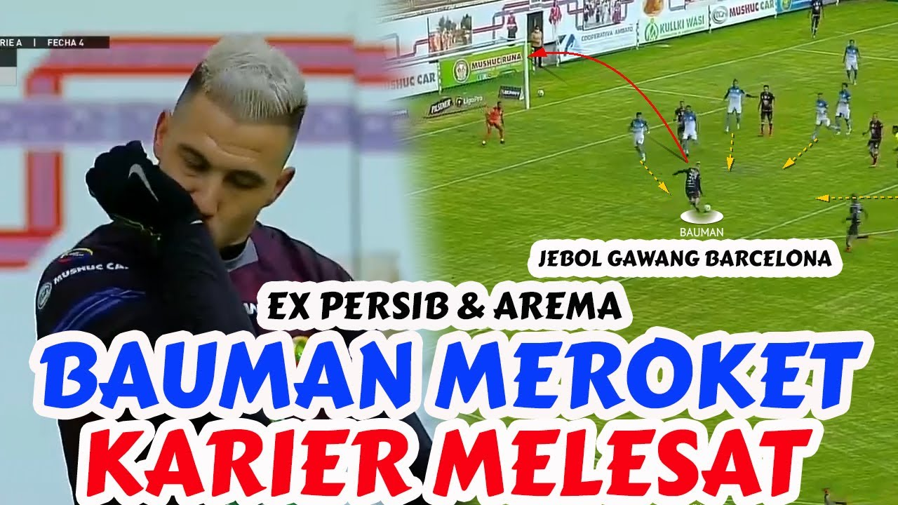 KARIER MEROKET! Jonathan Bauman Mantan Pemain Arema FC dan Persib Sukses Jebol Gawang Barcelona