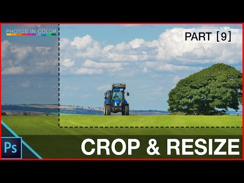 How to resize and crop images in photoshop CC - Photoshop Crop Tool Tutorial