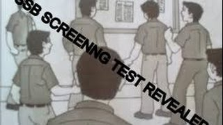 SCREENING TEST IN SSB REVEALED!!!!!!