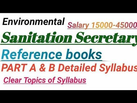 Sanitation and Environment Secretary Jobs