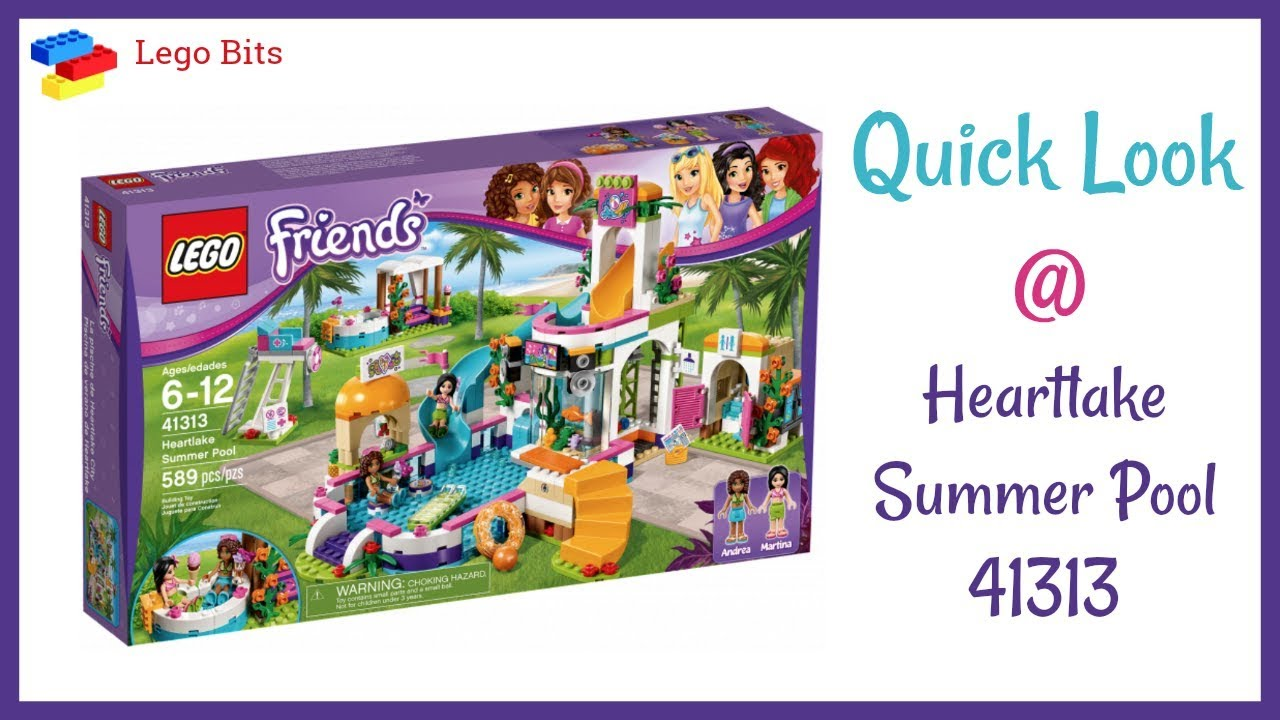 Lego Friends Heartlake Summer Pool Quick Look Preview 41313