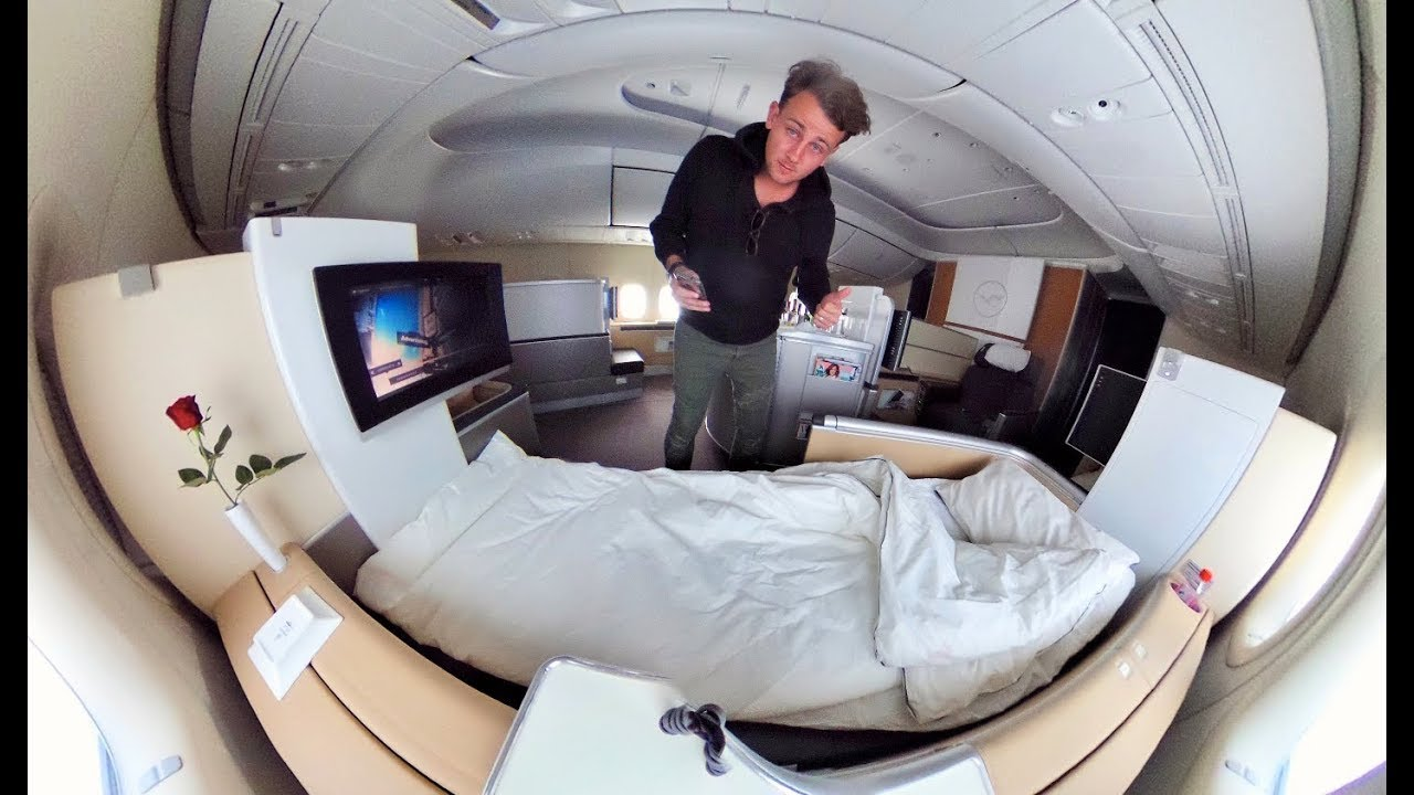 The Ultra-Luxe LUFTHANSA FIRST CLASS Experience... - YouTube