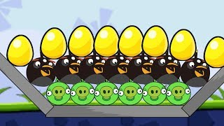 Angry Birds Bomb 1 - BLAST OUT ALL THE ROUND PIGGIES AFTER SAVING GOLDEN EGG!!