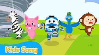 꼬리 내 꼬리 | Kids songs | LittleTooni songs with Robot Trains Eng sub