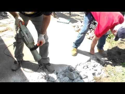 2 Kings Jackhammer concrete driveway on YouTube-it looks like it will take him long time!