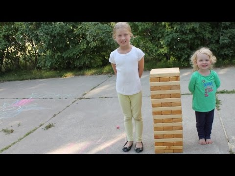 Building Giant Outdoor Jenga Game