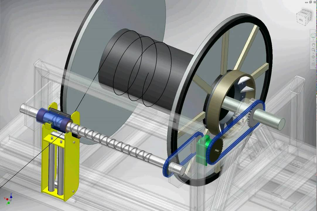 Rope Winder Dynamic Simulation Using Inventor From B Amp D