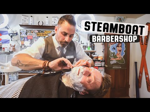 💈 Traditional Barber Shop Relaxing Straight Razor Hot Shave and Massage | Steamboat Barbershop