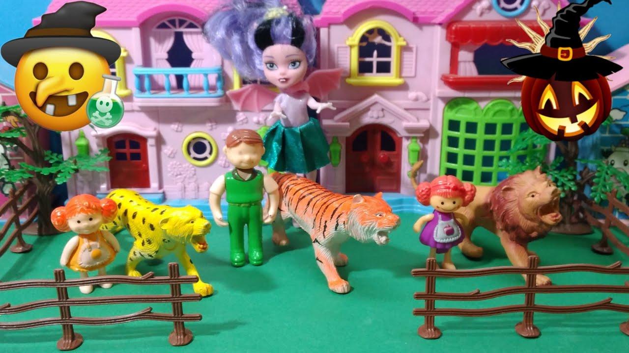 الساحرة الشريرة تنتقم من العائلة / تحولنا إلى حيوانات الغابة !! يوميات ملوكة