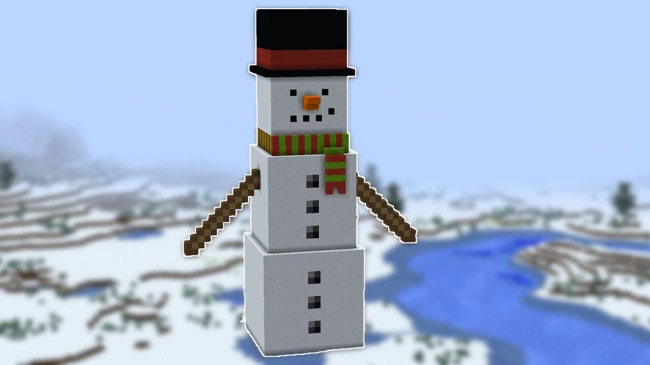 Как вызвать снеговика в майнкрафт