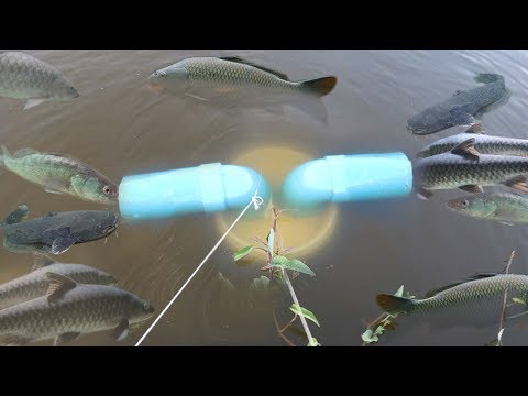 Smart Girl Make Fish Trap Using PVC And Plastic Bottle To Catch A Lot of Fish ( Part 2 )