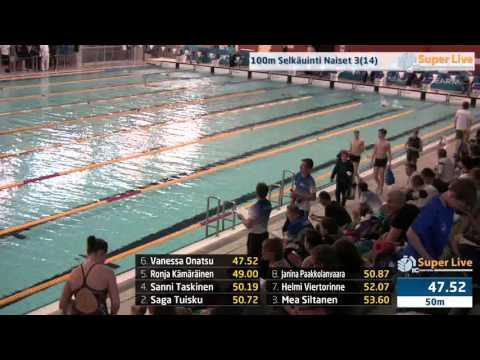 5 100m Selkäuinti Naiset Heat 3 11 23 32